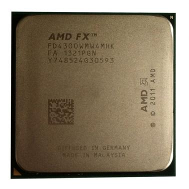 AMD FX-4300 FX系列四核 散片CPU(Socket AM3+/3.8GHz/4M二级缓存)
