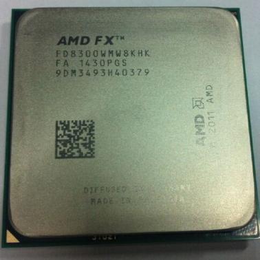 AMD FX-8300 FX系列八核 散片CPU(Socket AM3+/3.3GHz/8M缓存)