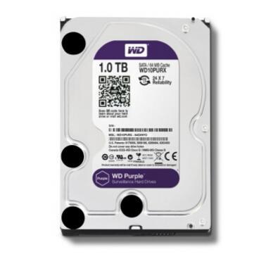 西部数据(WD)1TB SATA6Gb/s 64M监控级紫盘(WD10PURX)