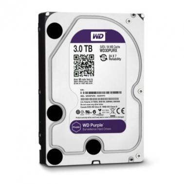 西部数据(WD)3TB SATA6Gb/s 64M监控级紫盘(WD30PURX)