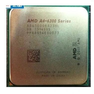 AMD APU系列双核 A4-6300 散片CPU(Socket FM2/3.7GHz/1M缓存)