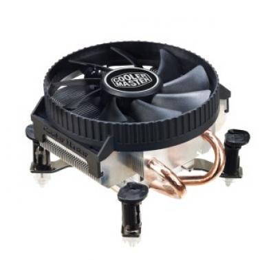 酷冷至尊(CoolerMaster)猎鲨V200 CPU散热器(INTEL平台/2热管/静音风扇/超低高度)