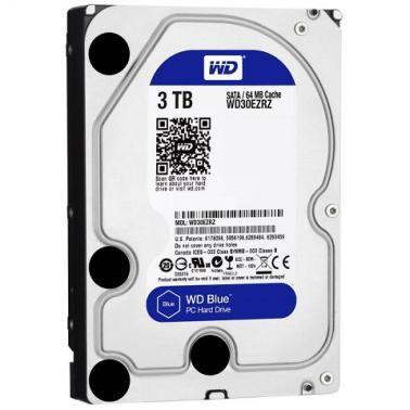 西部数据(WD)3TB SATA6Gb/s  64M 台式机蓝盘(WD30EZRZ)