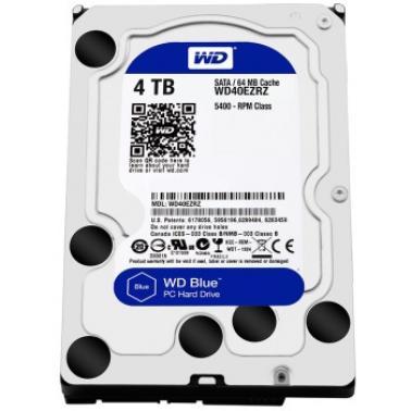 西部数据(WD)4TB SATA6Gb/s  64M 台式机蓝盘(WD40EZRZ)