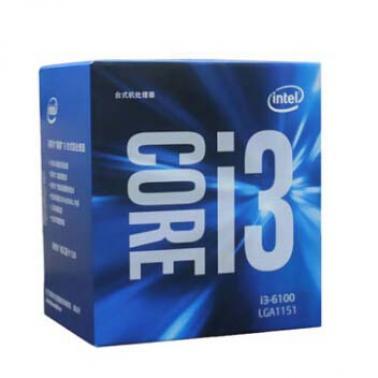 英特尔(Intel)酷睿i3-6100 14纳米 Skylake全新(LGA1151/3.7GHz/3M三级缓存架构)盒装CPU