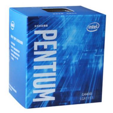 英特尔(Intel)G4400 奔腾双核 14纳米Skylake架构(LGA1151/3.3GHz/3MB缓存/51W)盒装CPU