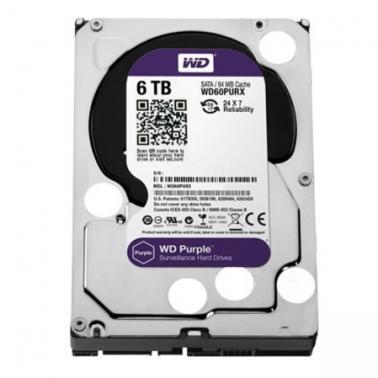 西部数据(WD)6TB SATA6Gb/s 64M 监控级紫盘(WD60PURX)