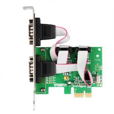 紫电 PCI-E 转2口串口卡支持所有PCI-E插槽