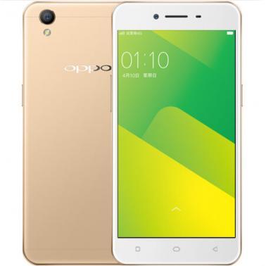 OPPO A37智能手机 全网通版4G 八核 ROM/16GB RAM/2GB 前500万 后800万 5英寸 双卡双待 金色 2630mA/h