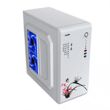 威盛 2026机箱 白色(USB3.0 支持SSD 背走线 支持ATX主板 立式)