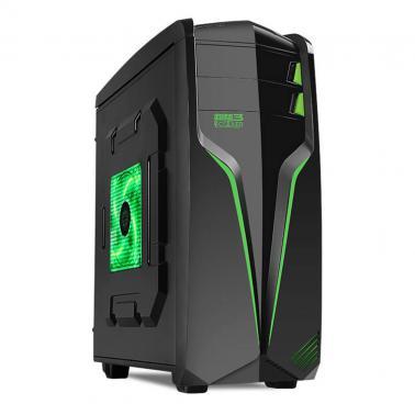 超频三(PCCOOLER)冲锋号 台式电脑机箱 黑色(双面板/USB3.0/下置电源/支持长显卡)