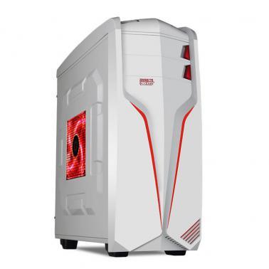 超频三(PCCOOLER)冲锋号 台式电脑机箱 白色(双面板/USB3.0/下置电源/支持长显卡)