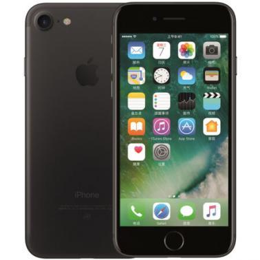 苹果iPhone 7 智能手机 公开版三网4G 苹果四核A10+M10协处理器 ROM/128GB RAM/2GB 4.7英寸 前700万像素 后1200像素 黑色 1960mA/h MNGXWCH/A
