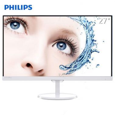 飞利浦(PHILIPS)277E7QDSW 27英寸 AH-IPS全高清液晶显示器(白色)