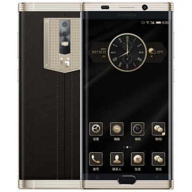 金立M2017 智能手机 全网通版 八核 ROM/128GB RAM/6GB 前800万像素 后1300万像素 5.7英寸 双卡双待 金色 7000mA/h
