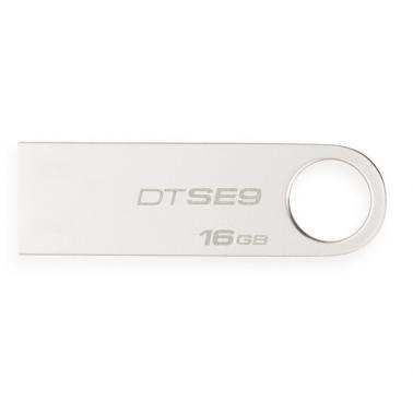 金士頓(Kingston)DT SE9H 16GB 金屬USB2.0 U盤 迷你型車載U盤 銀色亮薄