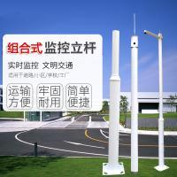 監控立桿 3.0M高 組合式 含地籠 標配短橫臂 管徑114轉76